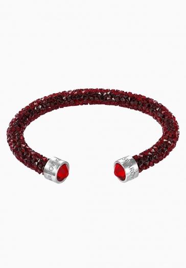 Bracelet Jonc Ouvert Crystaldust Swarovski Rouge, Cristal