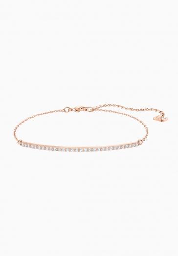 Bracelet Only Swarovski Blanc, Métal Doré Rose
