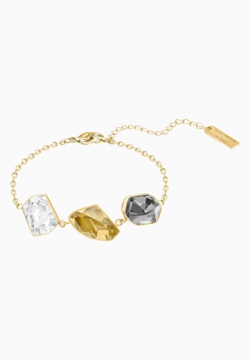Bracelet Prisma Swarovski Multicolore, Métal doré