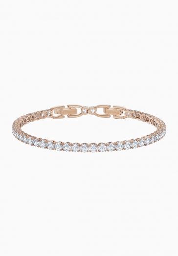 Bracelet Tennis Deluxe Swarovski Métal doré rose