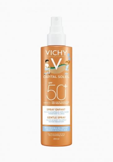 Capital Soleil Spray enfant SPF50+ Vichy Résistant eau et sable