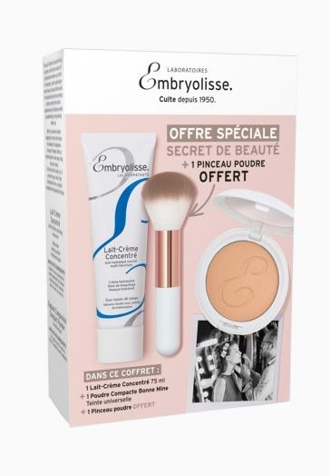 Coffret Secret De Beauté Embryolisse Lait-Crème + Poudre + Pinceau
