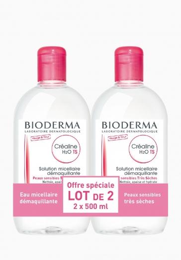 Créaline TS H2O Bioderma Eau micellaire hydratante sans rinçage