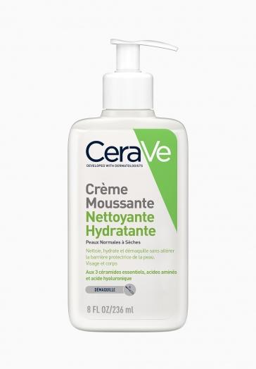 Crème Moussante Nettoyante Hydratante CeraVe Peaux Normales à Sèches
