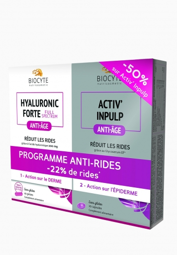 Duo Pack Anti-rides Biocyte Activ'Inpulp + Hyaluronic Forte Full Spectrum