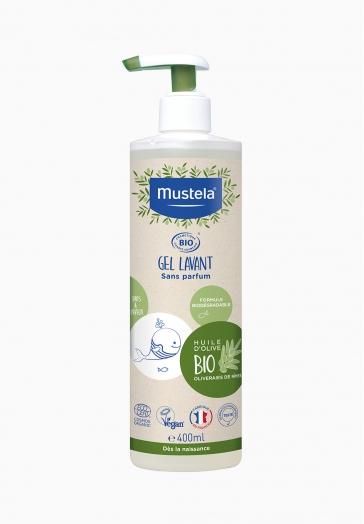 Gel lavant corps et cheveux bébé BIO Mustela Gel lavant sans parfum