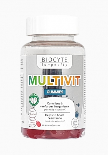 Multivit Gummies Biocyte Gommes contribuant à renforcer l'organisme