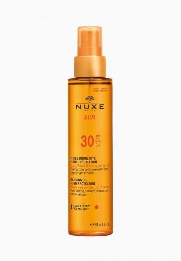 Nuxe Sun Nuxe Huile Bronzante Visage et Corps Haute Protection SPF30