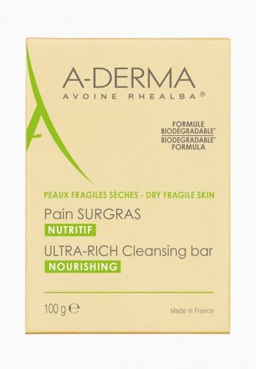Pain Surgras Nutritif A-Derma À l'avoine Rhealba et idéal pour les peaux sèches