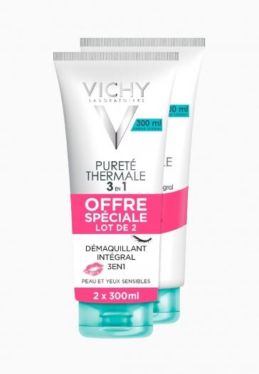 Pureté Thermale Démaquillant 3 en 1 Vichy Peau et yeux sensibles