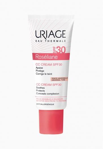Roséliane CC Cream SPF30 Uriage Protège et corrige le teint