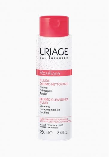 Roséliane Fluide Dermo-Nettoyant Uriage Soin nettoyant et démaquillant