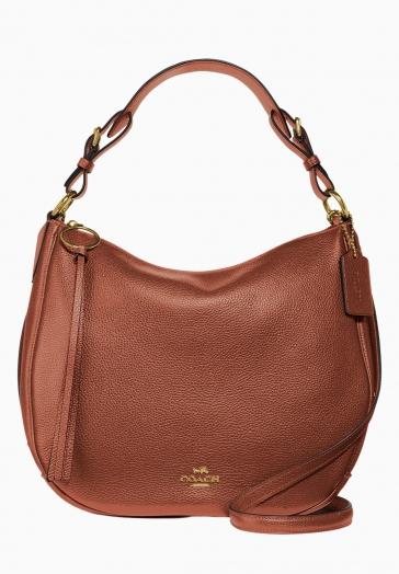Sac Hobo Sutton Coach Grand sac à main en cuir galet poli avec anse et bandoulière