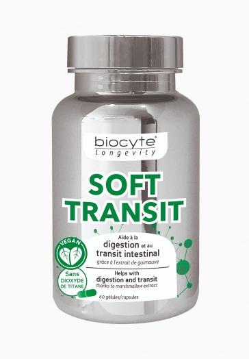 Soft Transit Biocyte Gélules à l'extrait de guimauve qui aident à la digestion et au transit intestinal