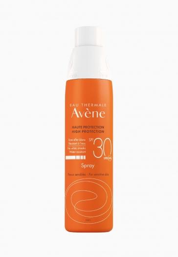 Spray SPF 30 Avène Sans effet blanc et résistant à l'eau