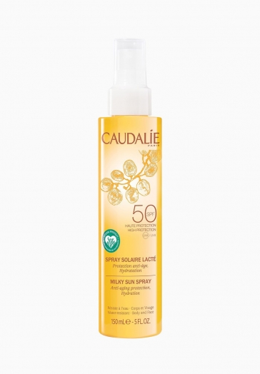 Spray Solaire Lacté SPF50 Caudalie Protection Maximale Corps et Visage