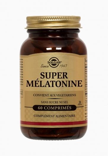 Super Mélatonine 1,9 mg Solgar Favorise l'endormissement et réduit les effets du décalage horaire