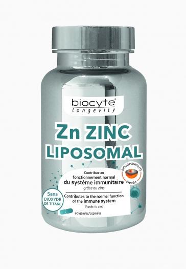 Zn ZINC Liposomal Biocyte Gélules contribuant au fonctionnement du système immunitaire