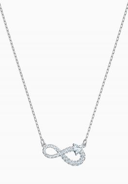 Collier Swarovski Infinity - Swarovski - Blanc, Métal rhodié