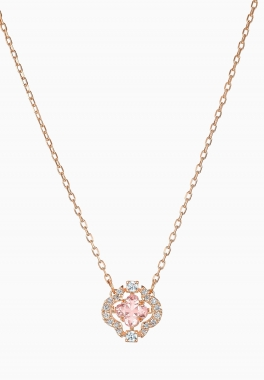 Collier Swarovski Sparkling Dance - Swarovski - Rose, Métal doré rose