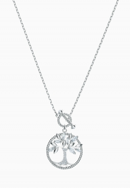 Collier Swarovski Symbolic Tree of Life - Swarovski - Blanc, Métal rhodié
