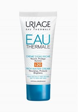 Eau Thermale Crème d'Eau Riche SPF20 - Uriage - Nourrissante et protectrice