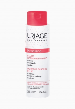 Roséliane Fluide Dermo-Nettoyant - Uriage - Soin nettoyant et démaquillant
