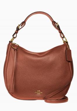 Sac Hobo Sutton - Coach - Grand sac à main en cuir galet poli avec anse et bandoulière