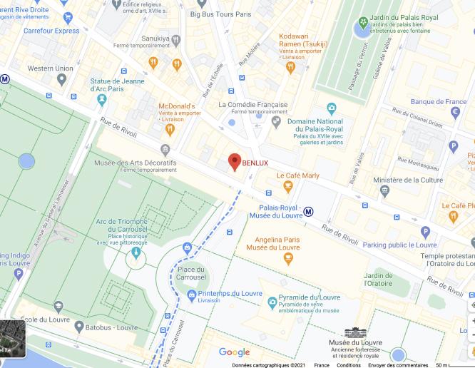 google map BENLUX